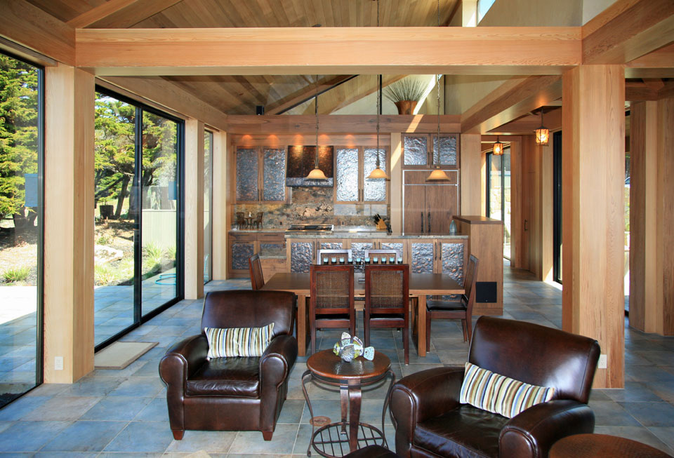 High style with Craftsman construction, Sea Ranch bluff-top residence